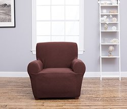 Cambria Collection Stylish Strapless Slipcover - Chocolate - Size: Chair