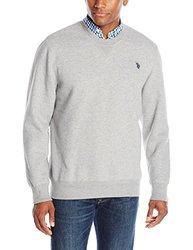 U.S. Polo Assn. Men's Fleece Crew Neck Sweatshirt - Heather Grey - 2XL