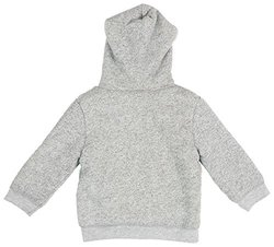giggle Little Boys' Hoodie with Fur Lining (Toddler) - Charcoal - 3T
