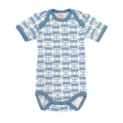 Giggle Better Basics Short Sleeve Baby Body Cars - Multi - Size: 3-6M