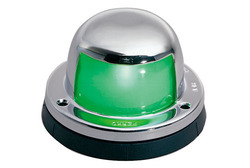 Perko Horizontal Mount Stainless Steel Side Light - Green