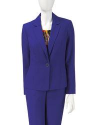 Kasper Girls Electric Blue Stretch Crepe Jacket - Blue - Size: 16