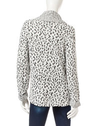 Energe Women's Animal Print Top - White - Size: Small
