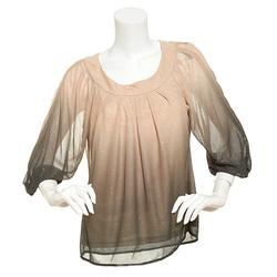 Sara Michelle Women's 3/4 Sleeve Glitter Top - Gold/Black - Size: PS