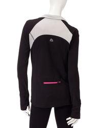 RBX Polar Fleece Mock Neck Pull-Over Top - Black/Grey - Size: XL