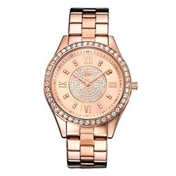 Jbw Mondrian Women's Diamond Watch: Rose Gold Band W/rose Gold Dial