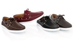 Franco Vanucci Men's Faux-Leather Boat-15 Shoes - Brown - Size: 7.5