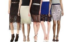 Endless Rose Sequin Skirt: Navy Multi - Medium