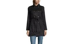 Renamed Long Sleeve Suede Trench Coat - Black- Size: Medium