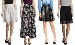 Lucy Paris Metallic Brocade Skirt: Blush - Medium