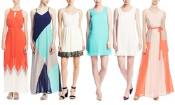 Ya Los Angeles Colorblock Dress - Navy/Jade - Size: Medium