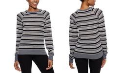 Long Sleeve Striped Sweatshirt