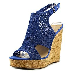 Lucky Brand Women's Raziah Wedge Sandal - Blue - Size: 10