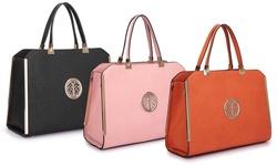 Dasein Faux Leather Satchel Women's Handbag - Orange