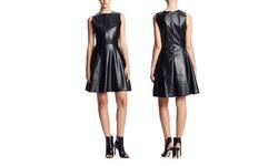 Press Women's Lazer Cut Faux Leather Dress -  Black - Size: XS