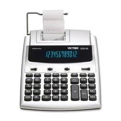 "Victor 2.5"" X 7.8"" Fluorescent Commercial Calculator - White"