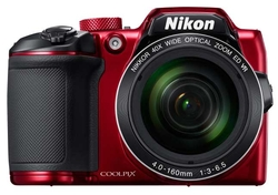 Nikon Coolpix B500 16MP Digital Camera W/ 40x Optical Zoom - Red (26508)