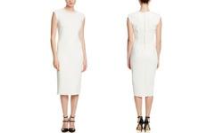 Spense Women's Extended Dress with Neckline Detail - Cloud - Size: 6