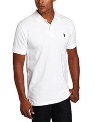 U.S. Polo Assn. Men's Solid Polo With Small Pony - White - Size: Small