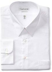 Men's Classic-Fit Non-Iron Poplin Dress Shirt - White - Size: 16x34-35""