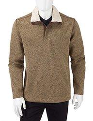 Weatherproof Vintage Men's Fleece 1/4 Zip Pullover - Size: Large - British Khaki