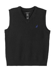 Nautica Boy's Solid V-Neck Sweater Vest, Sport Navy (L(14/16))