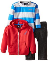Nautica Baby Boy's 3-pc. Hoodie/Shirt/Jeans Set - Red Rouge - Size: 18mo