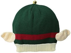 D&Y Women's Elf Ears Ugly Christmas Hat, Green, One Size