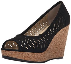Adrienne Vittadini Footwear Women's Carilena Wedge Pump - Black - Size: 9
