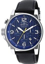Invicta Men's Chronograph Watch: Invicta-20131syb Black Band-blue Dial