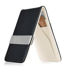 Insten Men's ID Credit Card Holder/Wallet - Black/White
