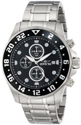 Men's Specialty Chrono Stainless Steel Black Dial