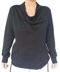 Gloria Vanderbilt Women's Asymmetrical Zip Jacket - Black - Size: M