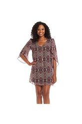 Emerald Sundae Girl's Challis Party Slip Dress - Multi - Size: Medium
