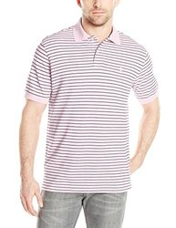 IZOD Men's Coastal Prep Striped Pique Polo - Fairy Tale - Size: Small