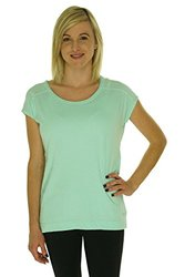 Calvin Klein Performance Mint Raw Edge V-Back Top - Green -Size: Medium