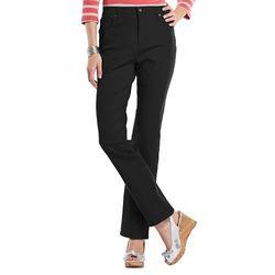 Gloria Vanderbilt Women's Petite Straight Leg Jeans - Black - Size: 12P