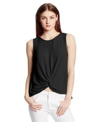 Bcbgeneration Women's Front Knot Top - Black - Size: Small
