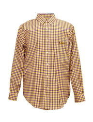 NCAA Men's LSU Tigers Purple & Yellow Plaid Shirt - White/Purple - Size: L