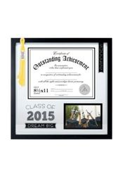 Malden 2 Opening Certificate Floater Frame - Black