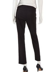Valerie Stevens Women's Solid Color Stretch Ankle Pants - White - Size: 10