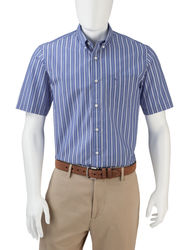 Dockers Men's Folded Shadow Striped Woven Shirt - Blue - Size: Medium