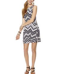 Trixxi Girls Open Back Dress - Navy / Ivory - Size: 9