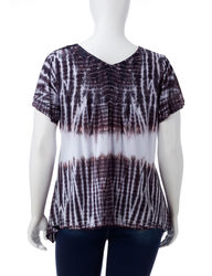 S/S TYE DYE CHEVRON TOP:1