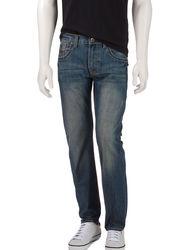 Rustic Blue Men's Medium Wash Slim Fit Jeans - Denim - Size: 30 X 30