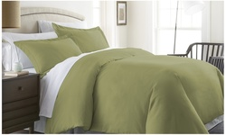 ienjoy Home Double Brushed Duvet Cover Set - Sage - Size: Full