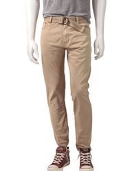 Rustic Blue Men's Jackson 5-Pocket Twill Pants - Beige - Size: 34 X 30