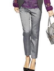 Valerie Stevens Women's Royal Flush Grey Medallion Print Pants - Multi