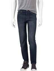 Signature Studio Men's Medium Wash Slim Straight Jeans - Blue - Size:34x30