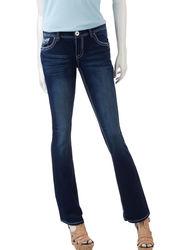 Amethyst Unisex Kids Embellished Trumpet Jeans - Blue - Size: Juniors
